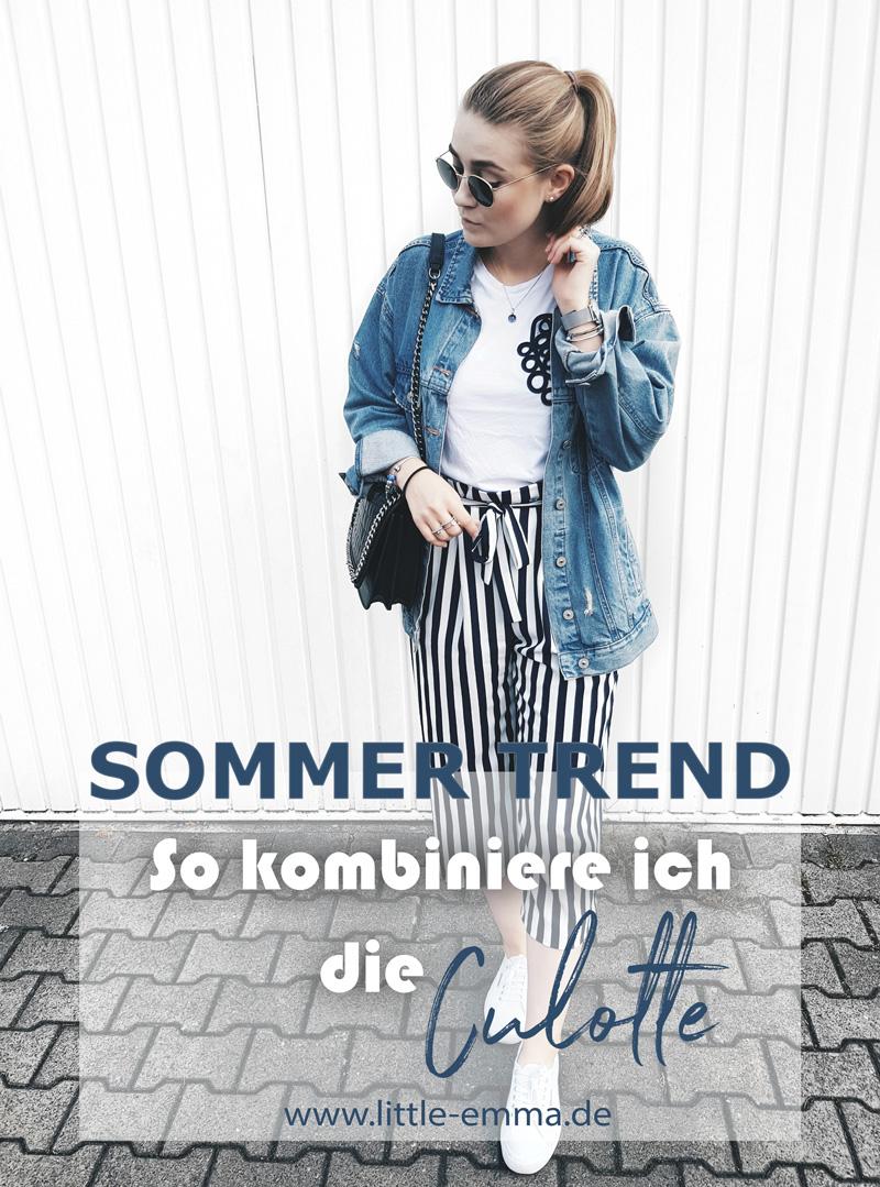 little emma fashionblogger zara gestreife culotte hose trend 2017 influencer deutschland. Black Bedroom Furniture Sets. Home Design Ideas